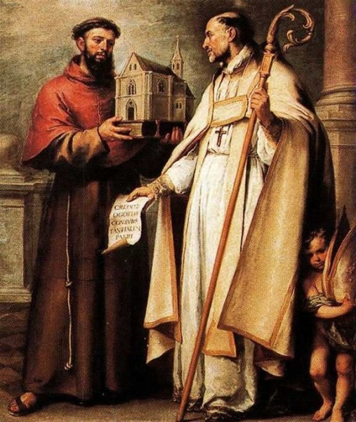 "Bartolomé Esteban Murillo [Public domain], <a href=""https://commons.wikimedia.org/wiki/File:San_buenaventura_y_san_leandro.jpg""  target=""_blank"">via Wikimedia Commons</a>"