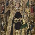 Santo-Domingo-de-Silos-enthroned-as-bishop-by-Bartolome-Bermejo-Prado-Museum