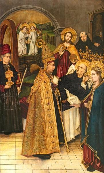 "Bartolomé Bermejo [Public domain], <a href=""https://commons.wikimedia.org/wiki/File:B.Bermejo_ret.St.Domingo_Silos_mort_del_Sant_4132.jpg"" target=""_blank"">via Wikimedia Commons</a>"