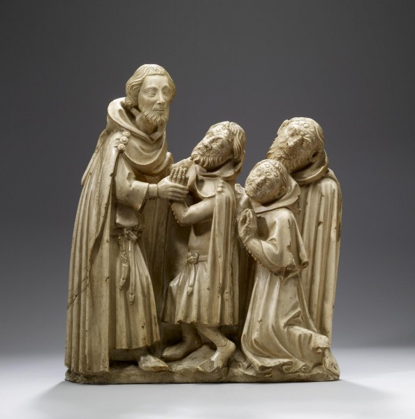 """Saint Elzéar Curing the Lepers (Ornament the base of the saint's tomb, constructed in 1373)  <a href=""""https://commons.wikimedia.org/wiki/File:French_-_Saint_Elz%C3%A9ar_Curing_the_Lepers_-_Walters_2716.jpg"""" title=""""via Wikimedia Commons"""" target=""""_blank"""">Walters Art Museum</a> / Public domain"""